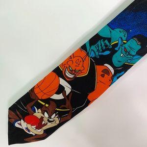 Space Jam Tie Taz Monsters 1996 Warner Bros Black